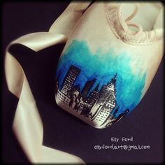 We will be selling pointe shoes like this with the Cleveland skyline on them this summer! Email us if you want one for your ballet collection or as a representation of the CLE! info@balletincleveland.org