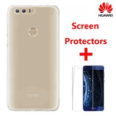 >> Click to Buy << 100% Official Huawei Honor 8 TPU Transparent Soft Case Luxury Back Cover Case + Screen Protectors with Original Retailed Package #Affiliate
