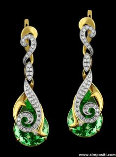 Really nice long gold earrings. #gold #earrings