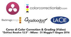 """Corso a Milano su DaVinci Resolve 12.5, giugno 2016. Corso base Color Correction & Grading con """"DaVinci Resolve 12.5"""", tenuto da Daniele Paglia."""