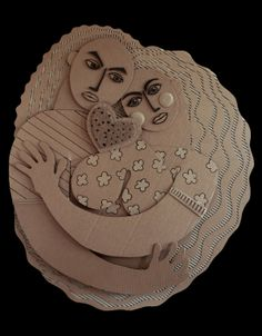 Cardboard sculpture by Golzad.  Anniversary, via Behance