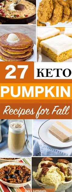 27 Keto Pumpkin Recipes for the Holiday Season, Low Carb Desserts for Fall, Fat Bombs, Keto Thanksgiving recipes, mug cakes, cream cheese frosting recipes, Keto cookies and more