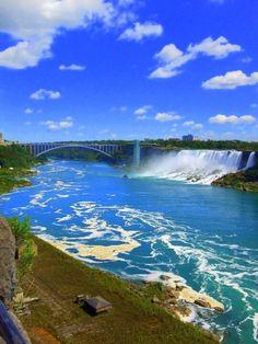 Niagara Falls, Niagara Falls, Ontario - View from the Canadian...