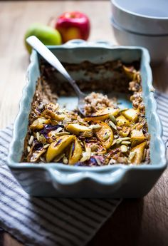 Steel-Cut Oats with Maple-Roasted Apples and Cheddar | Recipe | Steel ...