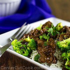 Broccoli Beef Stir Fry - made with tender marinated flank steak. Yum!
