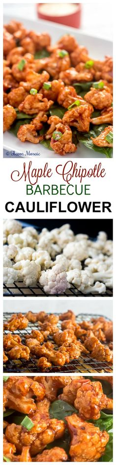 Maple Chipotle Barbecue Cauliflower transforms everyday cauliflower into a deliciously sweet, spicy and smoky appetizer or side dish that is certain to convert the most avid cauliflower hater into a cauliflower lover! ~ http://FlavorMosaic.com