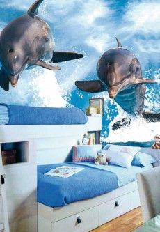 FotobehangFactory Fotobehang Dolphins