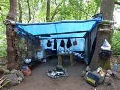 Building Shelter in Woods | woods: shelter
