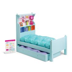 NEW American girl Bouquet bed set Trundle doll Bed American Girl Beds, American Girl Doll Room, American Girl Furniture, Girls Furniture, Doll Furniture, American Girl Doll Things, Furniture Vintage, Blue Bedding, Bedding Sets
