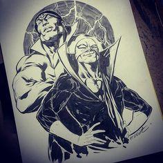 Power Man and Iron Fist by Elliot Fernandez