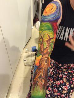 Josh Dun tattoo sleeve on a friend by noviebird.tumblr.com