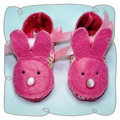 Baby Bunny Booties for Machine embroidery design