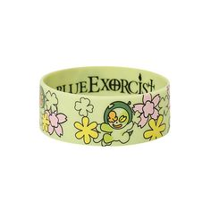 Blue Exorcist Nii-Chan Rubber Bracelet | Hot Topic ($1) ❤ liked on Polyvore featuring jewelry, bracelets, rubber bangles, floral jewelry, blue jewelry, blue bangles and rubber jewelry