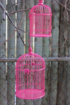 Hot Pink Bird Cage Birdcage Metal Candleholder by Embellish1122, $11.00