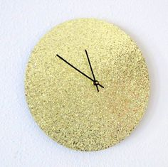 Glitter Wall Clock, Trending Art, Unique Wall Clock, Gold Clock, Unique  Wall Clocks, Home And Living, Decor U0026 Housewares, Home Decor, Living