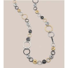 perfection! great whimsical and sophisticated piece with mixed metals. Improv necklace $98