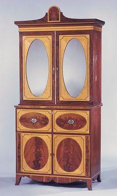 Desk And Bookcase 1800 1810 Mid Atlantic Baltimore