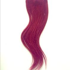 Burgundy red hair extensions Bright red/burgundy clip on human hair extensions. 100% human hair extra silky. Can be curled, straightened, etc Accessories
