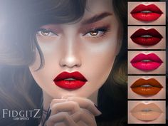 "fidgitz: "" FIDGITZ: Lush Lipstick SIMS 4 Female Only Young Adult / Adult You can find in makeup Package File Package File Includes: 5 Lipstick Colours Download Enjoy! :) """