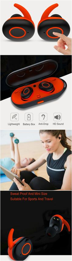 Smart wireless Bluetooth earbuds headphones with portable charger Fits into workout and gym clothes. Great for running without tangles! Gift accessories products for android Samsung Galaxy, LG, Sony, Windows 10, Laptop, Macbook and iPhone 7 users, men and women and those who are active in yoga, cardio, health and fitness and travel. Take music anywhere you go, packs easily in purses, luggages and backpacks. Take music anywhere you go, packs easily in purses, backpacks and travel bags. #Tech