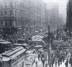 Rush Hour, New York City, 1909.