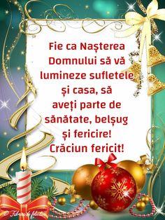 Fie ca Nașterea Domnului să vă lumineze sufletele și casa, să aveți parte de sănătate, belșug și fericire!