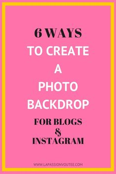 Ever wondered how to create a killer backdrop for your blog or Instagram images? Here are 6 easy backdrop ideas that will totally transform your pictures. The best part is these methods can easily be  implemented and cost close to nothing. Click on image