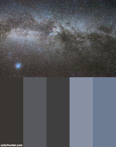 Cygnus+And+Lyra+Constellations+Color+Scheme