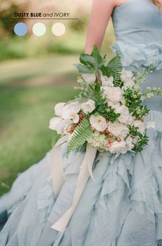 Tara La Tour gown, Blush Wedding Photography, via Wedding Sparrow Blue Wedding Gowns, Bridal Gowns, Gold Wedding, Copper Wedding, Tulle Wedding, Bouquet Wedding, Bridal Shoes, Wedding Fotos, Dusty Blue Weddings