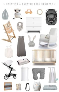 How to create a curated baby registry with Milk & Honey Babies on 100 Layer Cakelet - Neutral modern baby registry ideas with the Joya Rocker