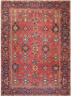 "Persian Heriz Serapi rug, 8'2""X10'0"", 1910, Keivan Woven Arts Gallery"