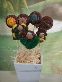 Pirulitos de Chocolate Safari