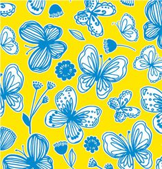 Our bright French Butterly gift wrap! #Spring #Yellow #Paper