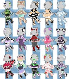 Mixed Outfit Adopts (closed) by Horror-Star on DeviantArt Source by clothes ideas Character Outfits, Character Art, Character Design, Kawaii Drawings, Cute Drawings, Chibi Kawaii, Drawing Anime Clothes, Art Prompts, Dibujos Cute