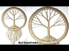 Mandala Monday – DIY Vintage tree Dream Catcher by CreativeArt - Crafts ideas 💡 Dreamcatcher Crochet, Moon Dreamcatcher, Dreamcatcher Tutorial, Macrame Owl, Disney Diy Crafts, Easy Diy Crafts, Diy Dream Catcher Tutorial, Wool Wall Hanging, Wall Hangings