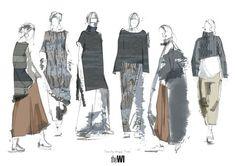 Fashion Sketchbook - fashion illustrations; line up; fashion portfolio // Nathalie McCubbin