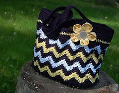 "Ravelry: ""Chasing Chevrons"" Shoulder Bag / Purse pattern by Jennifer Pionk"