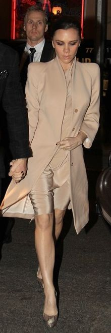 Dress - Victoria Beckham Shoes - Brian Atwood Jacket - Alexander McQueen
