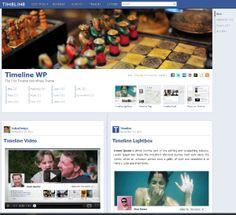 Facebook timeline WordPress Theme