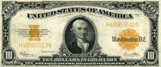 American Currency | us currency looked like when money used a gold standard