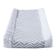 7857e9468f3b Wipeable Changing Pad Cover with Plush Sides Chevron - Cloud Island  White/Gray