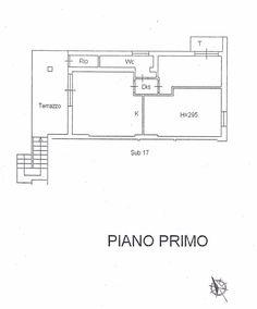 Soggiorno con angolo cottura, disimpegno, camera, camerina, bagno,  due terrazzi, due posti macchina. Splendida vista sul Golfo di Follonica.