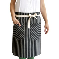 Hedley & Bennett Dearborne Ave. Denim Bistro Apron (380 CNY) ❤ liked on Polyvore featuring home, kitchen & dining, aprons, striped apron, stripe apron, denim apron and bistro apron