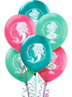Latex Little Mermaid Balloons 12in 6ct