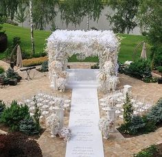 incredible white wedding ceremony decor!  ~  we ❤ this! moncheribridals.com