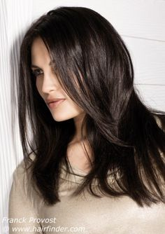 A cut like this, with the layers starting at my shoulders and tapering to the final length of waist where I wear it now. Maybe?