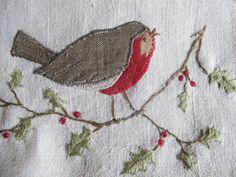 EMBROIDERY | Patchwork robins  Caroline Zoob |