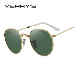 MERRY'S Retro Women Folded Sunglasses Men Classic Polarized Oval Sunglasses S'8093 #Affiliate