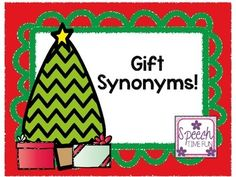 Have fun learning, reviewing, and using synonyms with this fun holiday themed activity!  Using this activity: -Memory matching cards of synonyms pairs are provided.   -Use to introduce vocabulary, play memory matching games, and review. -A graphic organizer worksheet is provided as a review activity.   -Students can complete the worksheet using one of the words from the memory matching cards and then color it!
