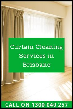 Hire an expert from Green Cleaners Team to get the curtain cleaners available in #Brisbane. Our best crew are highly trained they know their work, use of the machine and cleaning solutions. So you can book our #Curtain_Cleaning_Services from us. We are open on all days call us 1300 040 257